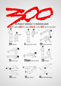 No equipment 300 workout. Train like a Spartan!