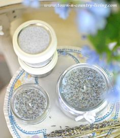 How to Make French Lavender Candles