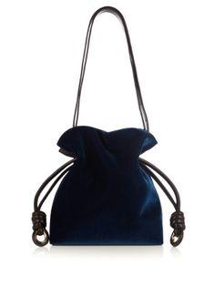 Flamenco Knot small velvet bag | Loewe | MATCHESFASHION.COM US