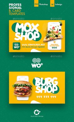 Mobile Shopping Business Card Templates by grafilker | GraphicRiver