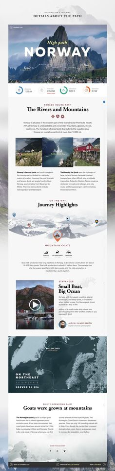 Journey List Web Design