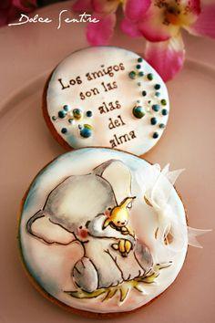 Dolce Sentire {Sweet Art: Galletas y Cupcakes decorados}: Galletas del Día de la Amistad: ¡Friends will be Friends!