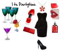 """Its Partytime"" by nene-chan ❤ liked on Polyvore featuring Artland, Karen Millen, NARS Cosmetics, Deborah Lippmann, Yves Saint Laurent, Ellis Faas, Cacharel, Del Gatto and Victoria Delef"