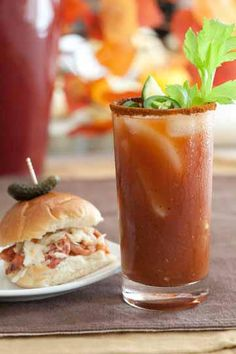 BBQ sliders and a Memphis Bloody Mary