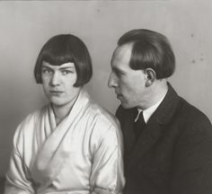 August Sander. The Painter Heinrich Hoerle and his Wife Tata. c. 1925.