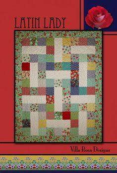Latin Lady quilt pattern by Pat Fryer, Villa Rosa Designs