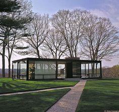 philip johnson glass house exterior.    Secret Design Studio knows Mid-Century Modern Architecture.  www.secretdesignstudio.com
