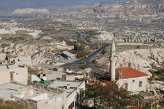View of the Cappadocia region in Turkey - photo taken from Uchisar castle