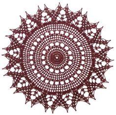Crochet Art: Crochet Pattern Of Simple Doily - Delicate