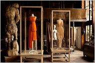 The acclaimed Madame Grès exhibition at the   Musée Bourdelle in Paris (until Aug.  28). Olivier Saillard, creative director of  Palais Galliera museum, has created a dialogue between clothing and  sculpture.
