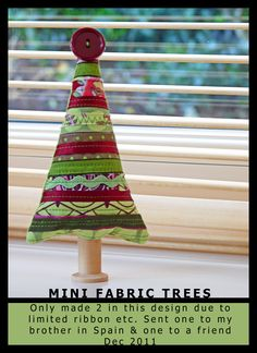 Mini Fabric Trees