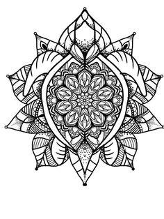Mandala travel turtle custom tattoo design idea Mandalay