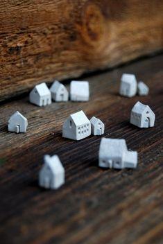 Little ceramic houses from Etsy.