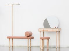 Avignon Furniture Collection by Gábor Kodolányi / Codolagni, Hungary Dressing Table, Furniture Collection, Kids Furniture, Design Projects, Mirror, Chair, Hungary, Home Decor, Desk
