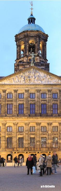 Royal Palace of Amsterdam - Dam Square - The Netherlands