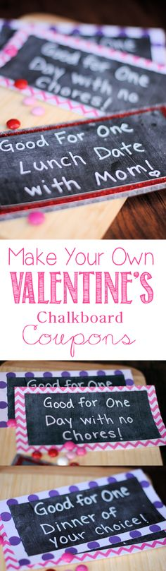 Easy Valentine's Day Idea to do for your kids-make them coupons for fun things like a date with mom