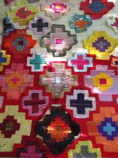 Crocheted. Re Rag Rug. Twelve different techniques, twelve different individual rugs, twelve months.