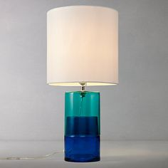 John Lewis Molly Glass Table Lamp Online -great colour and size but poor reviews. Under consideration.