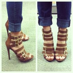 "These shoes! Yes please! Ready for strappy sandal weather. Target does it again! Mossimo ""Sapphire"" Strappy Heel Sandals"