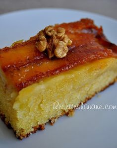 Banana Caramel Upside Down Cake Healthy Dessert Recipes, Delicious Desserts, Pudding Recipes, Cake Recipes, Banana Upside Down Cake, Desserts With Biscuits, Creole Recipes, Classic Cake, Small Cake