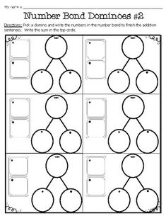 Freebie ~ Number Bond Domino Worksheets