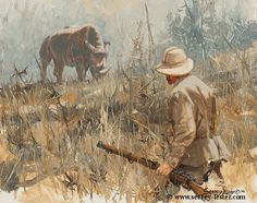 Not Just Wildlife Art of John & Suzie Seerey-Lester Safari, Hunting Art, Big Game Hunting, Diorama, Gun Art, Africa Art, Cowboy Art, African Animals, Sports Art