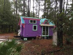 """Nicki Jo Davis is a firefighter who wanted to downsize and live simpler. She got exactly what she wanted and more in """"Ravenlore,"""" her tiny, colorful Victorian home on wheels."""
