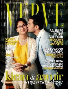Aamir Khan with wife Kiran on Verve coverpage