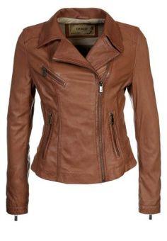 Brown leather jacket   Oakwood - HORN - Leather jacket - brown