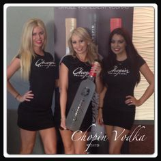 The World's Finest Single Ingredient Vodka's!    Chopin vodka models Claire, Heather & Krys are at Citizens Bank Arena. Come check out the match with them!