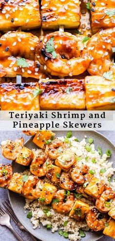 grilled Teriyaki Shrimp and Pineapple Skewers are so easy to make and great for a weeknight dinner! Juicy shrimp and sweet chunks of fresh pineapple are glazed with a simple homemade teriyaki sauce. They'll be on the table in 30 minutes or less! Sauce Teriyaki, Teriyaki Shrimp, Homemade Teriyaki Sauce, Recipes With Teriyaki Sauce, Teriyaki Skewers, Skewer Recipes, Shellfish Recipes, Seafood Recipes, Dinner Recipes