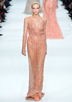 Cannes Film Festival: Runway to red carpet: Elie Saab haute couture Spring/Summer 2012 (worn by Petra Nemcova)