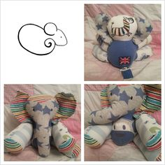 turn old baby clothes into a cute stuffed animal
