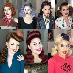 """4,576 kedvelés, 227 hozzászólás – Tony Medina- Hairstylist (@hisvintagetouch) Instagram-hozzászólása: """"Recently I've been trying to showcase other vintage styles that I ADORE! I know """"overly sculpted…"""""""