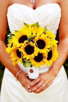 Sunflower bouquet for me!