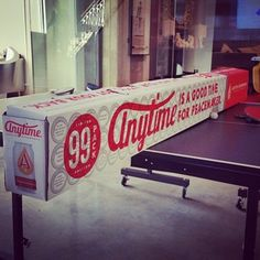 Or a make-shift divider for your ping-pong table: | Everything's Bigger In Texas Including This 99-Pack Of Beer