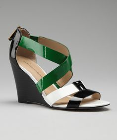 Black & Green Hazel 2 Wedge