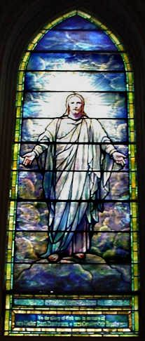 Hope and Glory, one of 11 Tiffany windows at Brown Memorial Church, Baltimore, MD