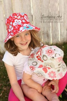 Easy Reversible Summer Hats