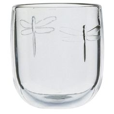 La Rochère Set of 6 Dragonfly Décor. I have three types of these dragonfly glasses and I adore them. So pretty and charming. They make me smile.