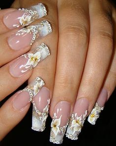 Nail art is one of those fashions women can't get over it anyway. Check out Best Acrylic Nail Art Designs, Ideas ,Trends, Stickers & Wraps 3d Nail Designs, Nail Designs Pictures, Colorful Nail Designs, Beautiful Nail Designs, Beautiful Nail Art, Acrylic Nail Designs, Colourful Nail, Floral Designs, Nails Design