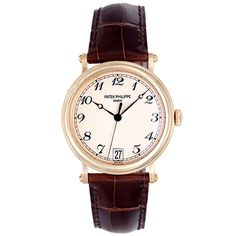 Patek Philippe Yellow Gold Officers Wristwatch Ref 5053J