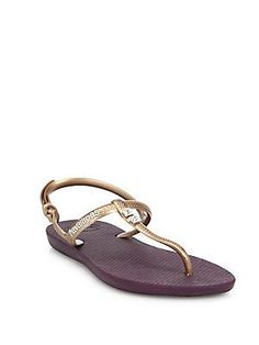 d1343b074 Havaianas - Freedom Glamour Metallic Rubber T-Strap Sandals