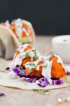 Vegan Buffalo Cauliflower Tacos with Cucumber Ranch #vegan #glutenfree   www.VegetarianGastronomy.com