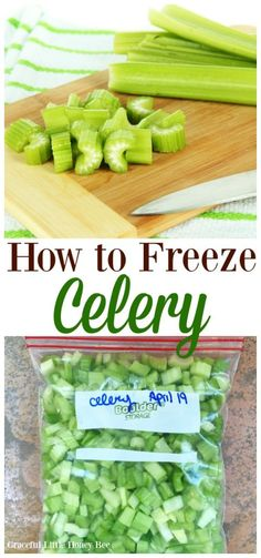 Excellent Toddler Shower Centerpiece Tips See How To Freeze Celery In This Super Quick Tutorial On Freezing Fruit, Freezing Vegetables, Frozen Vegetables, Fruits And Veggies, Freezing Celery, Frozen Fruit, Frozen Meals, How To Freeze Celery, How To Freeze Peppers