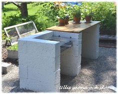 External kitchen with lecablock – DIY Garden Design ideas - Housing Projects for World