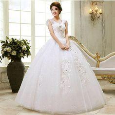 花嫁 ウェディングドレス フワフワ柄 袖ある  レースー ドレス・花嫁ドレス/結婚式/披露宴/二次会 ブライダル