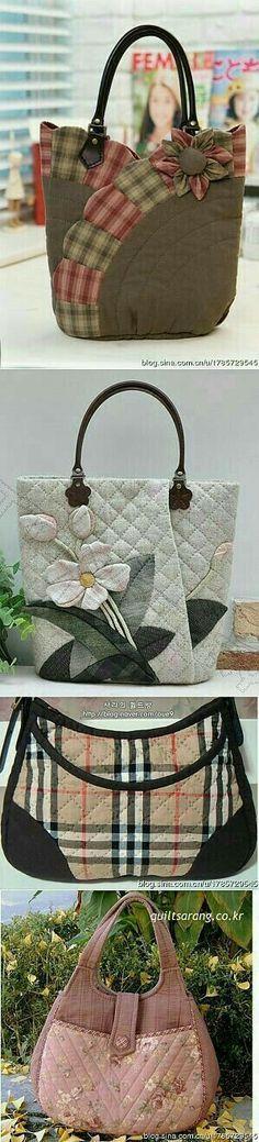Sew on patchwork bags. – Sew on patchwork bags. Patchwork Bags, Quilted Bag, Patchwork Quilting, Bag Quilt, Sacs Tote Bags, Bag Sewing, Sewing Jeans, Diy Sac, Purse Patterns