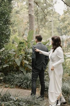 First look inspiration at boho treehouse forest wedding |  Image by Sophie Berard