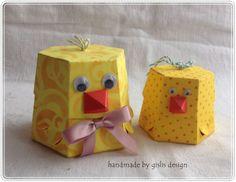 Geschenkverpackung  Ostern, Küken von gislis-design auf DaWanda.com